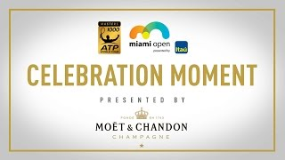 Roger Federer celebrates winning his third Miami Open presented by Itau title in this Moët Moment. Subscribe to our YouTube Channel: http://bit.ly/2dj6EhW ...
