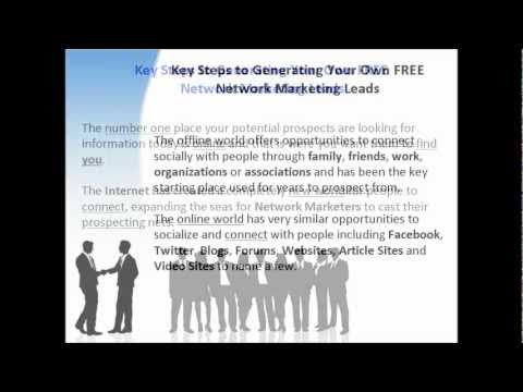 Free Network Marketing Leads – Key Steps For Generating Free MLM Leads