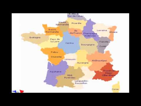 What are the regions of France