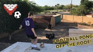 In today's Buck United Challenge, Jaron and I play football pong off the roof of my house! There are 6 trash cans down on the floor and whoever can kick a football in more wins! If you enjoy please leave a thumbs up and subscribe if you're new! Get Buck Merch! ► http://Buckarmy.com Buck's Social Media► Twitch: https://www.twitch.tv/buckarmy► Twitter: http://twitter.com/buckarmy► Instagram: https://www.instagram.com/buck_tv_official/?hl=en► Snapchat: C_Buck8