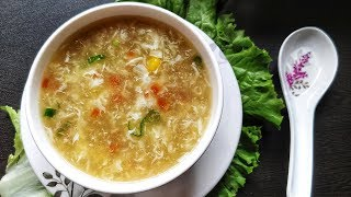 Sweet corn soup recipe - a comforting, healthy and delicious mixed vegetable sweet corn soup. This can be had anytime for the ...
