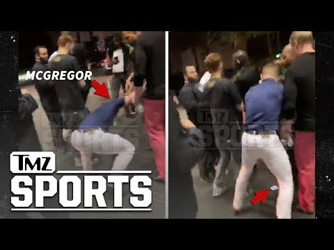 Conor McGregor Phone Stomping Incident Caught On Video | TMZ Sports