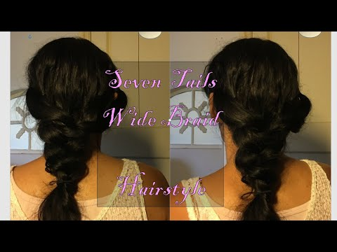 Braid hairstyles - SEVEN TAILS WIDE BRAID/ hairstyles/Creative Cheers of Fashion