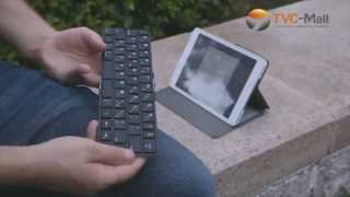 TVC Mall: Multi-Language Metal Foldable Bluetooth Keyboard For IOS Android Win8 Portable Keypad