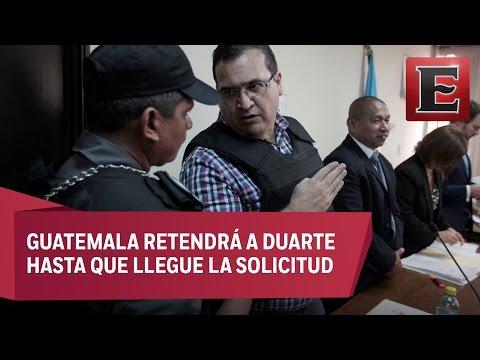 Javier Duarte no acepta proceso de extradición