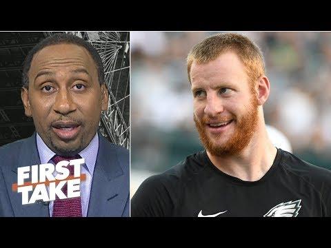 Video: Stephen A. shuts down the Carson Wentz vs. Nick Foles debate   First Take