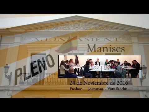 Pleno ayuntamiento de Manises 24 Noviembre 2016
