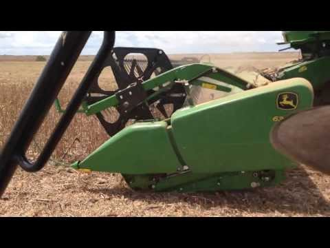 John Deere STS 9750 Flex Draper 635 colhendo soja Ipiranga do Norte - MT - video 2
