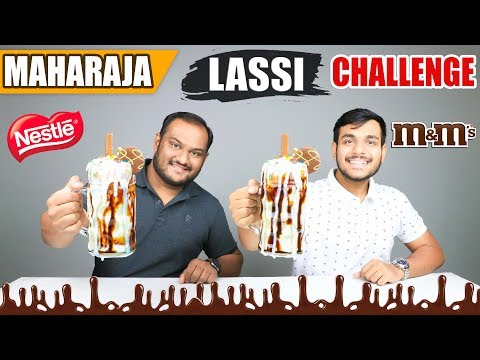 MAHARAJA CHOCOLATE LASSI CHALLENGE | Food Eating Challenge | Eating Competition | Food Challenge