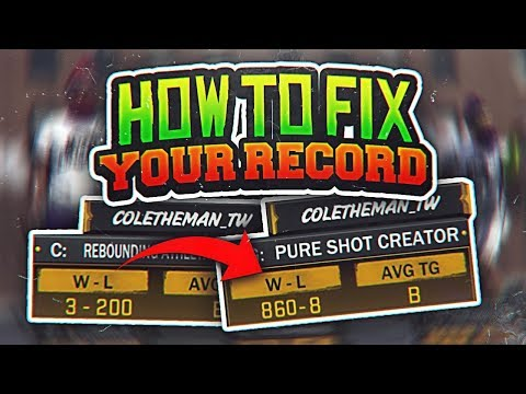 NBA 2K18 HOW TO FIX YOUR RECORD 😱 NEVER LOSE AGAIN 100% - HOW TO WIN EVERY 2V2 & 3V3 PARK GAME 🔥