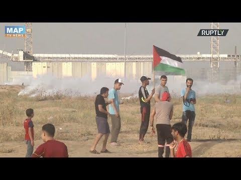 إصابة عشرات الفلسطينيين بالاختناق خلال قمع الاحتلال لمسيرة في الضفة الغربية