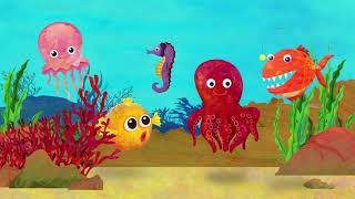 Finger Family - Sea Animals | Nursery Rhymes & Kids Songs - ABCkidTV