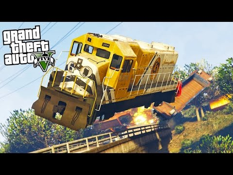 GTA 5 Myth *BUSTED* You CAN Blow Up The Train!! (GTA 5 Mods Gameplay)