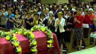 29 septembre: transfert des reliques du Bienheureux Alvaro