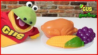 Pretend Play Food Toys and Thanksgiving Songs for Kids