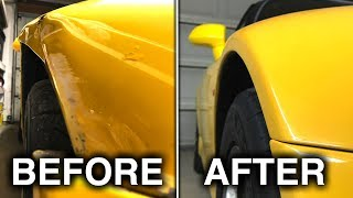 Crashing Into My Garage Results In An Expensive Body Shop BillSponsored by AutoTempest: https://www.autotempest.comSubscribe for new videos every Wednesday! - https://goo.gl/VZstk7After smashing my passenger fender into my garage shelving, I need to get the front fender fixed. On top of the fender, I had the front bumper repainted as it was chipped up, and also made sure to have the paint blended onto the touching panels so the color matched. Don't forget to check out my other pages below!Facebook: http://www.facebook.com/engineeringexplainedOfficial Website: http://www.howdoesacarwork.comTwitter: http://www.twitter.com/jasonfenske13Instagram: http://www.instagram.com/engineeringexplainedCar Throttle: https://www.carthrottle.com/user/engineeringexplainedEE Extra: https://www.youtube.com/channel/UCsrY4q8xGPJQbQ8HPQZn6iANEW VIDEO EVERY WEDNESDAY!