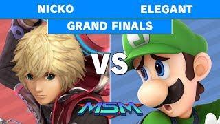 MSM 180 - Nicko (Shulk) vs Elegant (Luigi) Grand Finals - Smash Ultimate