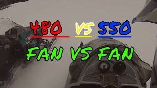 10. 480 Fan vs 550 Fan drag race + jumps