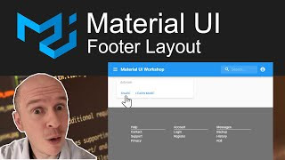 How to create a Footer using Material UI