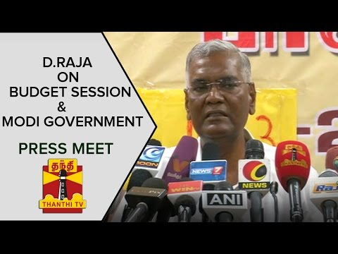 D-Rajas-Press-Meet-About-Budget-Session-Modi-Government--Thanthi-TV