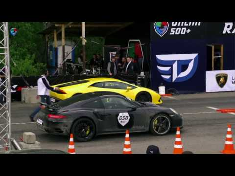 lamborghini huracan vs porsche 911 turbo s - drag race