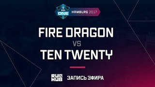 Fire Dragon vs Ten Twenty, ESL One Hamburg 2017, game 1 [Adekvat]