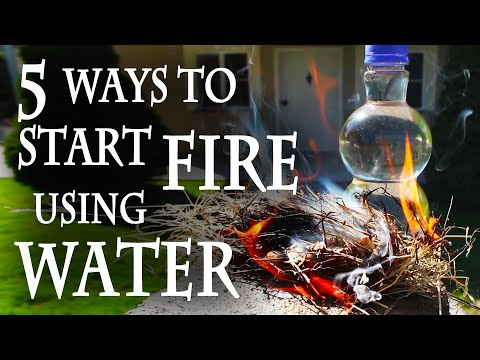 Using - Fire and water: mortal enemies? Not so fast! Here are 5 ways to start a fire, using water. For more projects videos, check out http://www.thekingofrandom.com...
