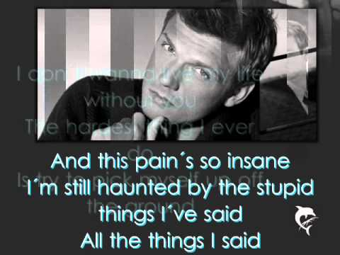 Nick Carter - Falling Down (Lyrics on Screen)