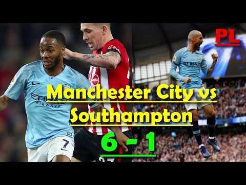 Manchester City vs Southampton 6-1 All Goals & Highlights 04/11/2018    Sterling, Aguero, Silva