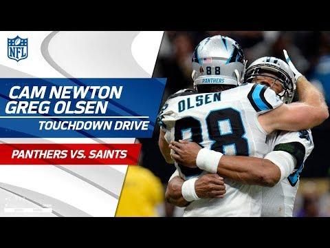 Video: Cam Newton & Greg Olsen Connect on Huge TD Drive! | Panthers vs. Saints | NFL Wild Card Highlights