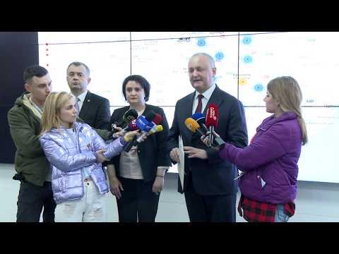 Igor Dodon a prezidat prima ședință a Centrului unic de comandă pentru gestionarea crizei provocate de virusul COVID-19