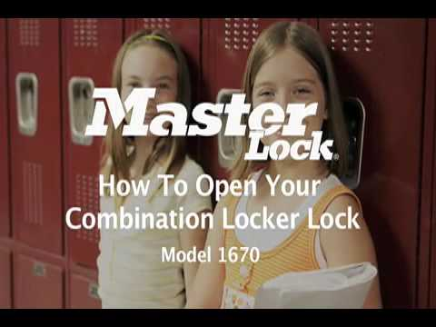 1670 Built in Combo Lock How to Open - Training