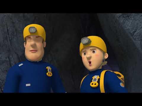 Brannmann Sam Norsk tale 🌟🔥Sam og Penny i en hule! 🚒🌟Tegneserier for barn