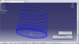Catia V5 Powerful Tricks #119|How to Create Variable Helical Pitch|Product & Mechanical Engineering