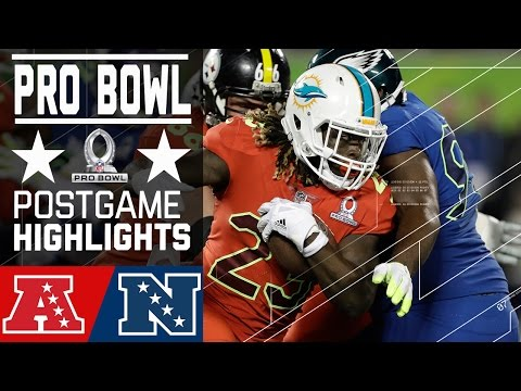 AFC vs. NFC | 2017 NFL Pro Bowl Game Highlights (видео)