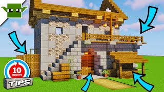 Minecraft House Side Details // 10 Minute Tips //