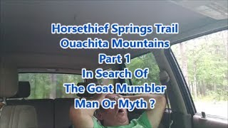 """Join me for a very last minute 4 1/2 hour trip to the Ouachita Mountains as I attempt to catch up with The Goat Mumbler who is already up there with his dog Tater and Mr. Bill   OOHHH  NO  !The Goat Mumblerhttps://www.youtube.com/channel/UCTv5VFZjR0wxvbM4FanhxKg """"Music by Evan Schaeffer https://soundcloud.com/evanschaeffer.""""More details at http://www.EvanSchaefferMusic.com"""