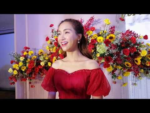 0 Hòa Minzy cùng dàn sao Việt nhộn nhịp đến chúc mừng Võ Hạ Trâm lên xe hoa