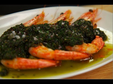 Chef Sisha Ortúzar's Roasted Prawns with Salsa Verde Recipe, Road to the Recipe