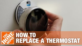 Video How-To Replace an Old Thermostat- The Home Depot MP3, 3GP, MP4, WEBM, AVI, FLV Juni 2018