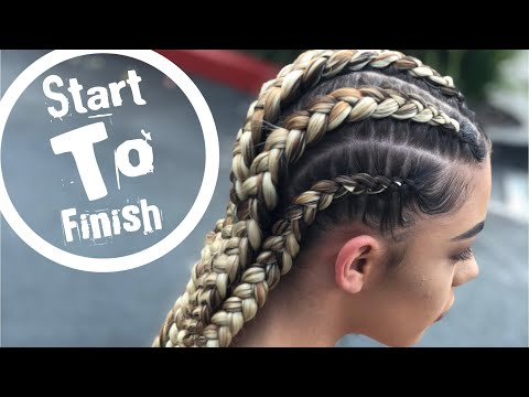 Hairdresser - Feed In Braids  at Beauty School !