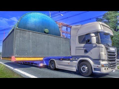 euro - Maior Carga do Mundo / Carga Gigante - Euro Truck Simulator 2 ➨ Vídeo Novo: Matando Lobos - http://youtu.be/qzJQ2rl_2HI Vídeos Extreme Trucker 2 - Carga Giga...