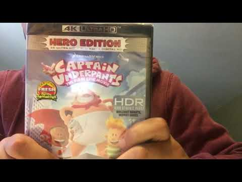 Captain Underpants The First Epic Movie 4K Ultra HD Blu-Ray Unboxing