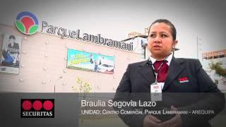SECURITAS PERÚ - LANZAMIENTO DE VIGILANCIA INCLUSIVA EN CC.CC. PARQUE LAMBRAMANI (MARZO 2012)
