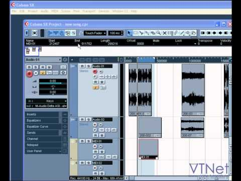 08 Cubase Video Tutorial – The Project Window – how to get around it, and what it all means