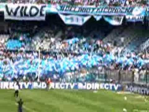 """Racing 0 - independiente 0 """" Doble salida"""" - La Guardia Imperial - Racing Club - Argentina - América del Sur"""