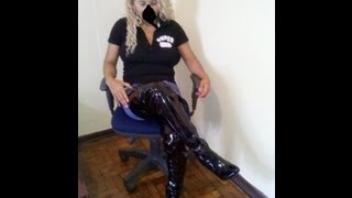 Milla's Friend Put Her Black Sexy Tigh High Boots When Milla Is Travelling By Europe.