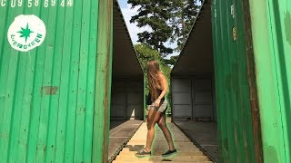 Connecting Our Two Shipping Containers!
