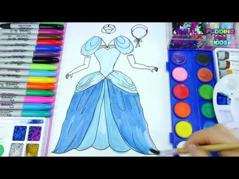 Video Disney Princess Pretty Dress Coloring Page To Learn Colors Drawing And DIY Painting For Kids download in MP3, 3GP, MP4, WEBM, AVI, FLV January 2017