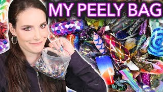 What's in my Peely Bag? (Re-creating 5 of my nail peelies) / 2017 year-in-review